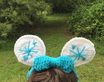 Frozen-Inspired Mickey Ears Headband