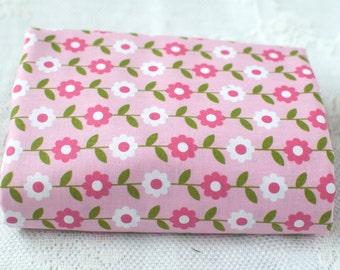 Fat Quarter ~ Riley Blake ~ Summer Song 2 ~ Zoe Pearn ~ Daisy ~ Flower Fabric ~ Pink