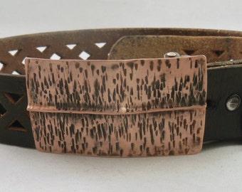 Copper Form Folded Belt Buckle