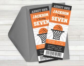 Basketball Invitation - Basketball Party Invitation - Basketball Birthday Party - Printable