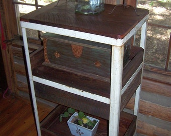 Wall Hanging Liquor Bar Shelf Made From Recycled Reclaimed
