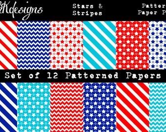 Stars & Stripes Digital Paper Pack