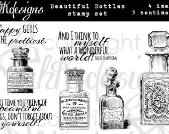 Beautiful Bottles Digital Stamp Set