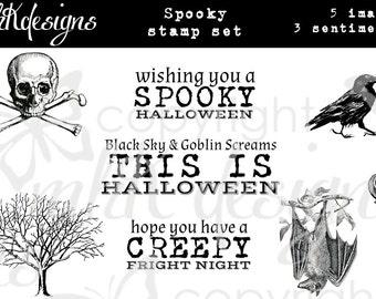 Spooky Digital Stamp Set