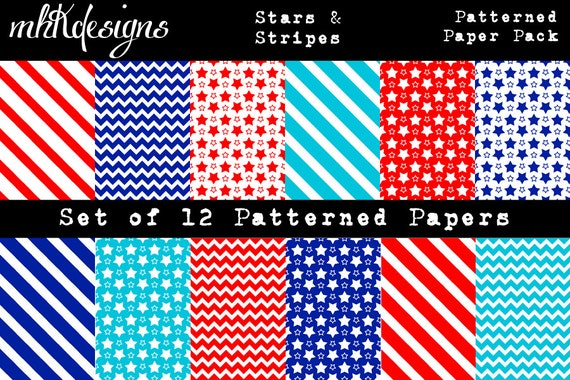 Stars & Stripes Digital Paper Pack
