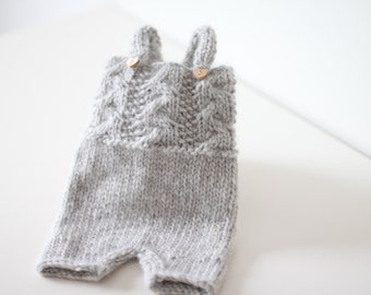 Newborn props - Newborn romper- Baby boy romper - Newborn Outfit - Photo Prop Outfit - Photo prop romper - Light grey - Newborn boy - Props