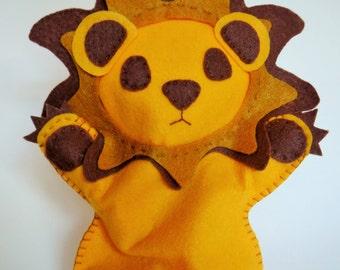 Otter Puppet, Lion Hand Puppet, Felt Lion, Felt Lion Puppet, Otter Toy, Hand puppet, Children's puppet, otter, quiet toy, simple toy