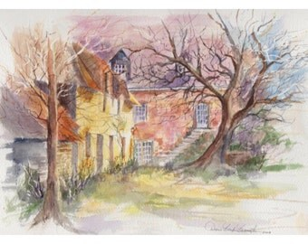Painting of  Country Home in France Limited Edition