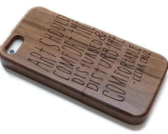 Iphone 7 case wood - wooden iphone 7 case walnut, cherry or bamboo wood - Art should