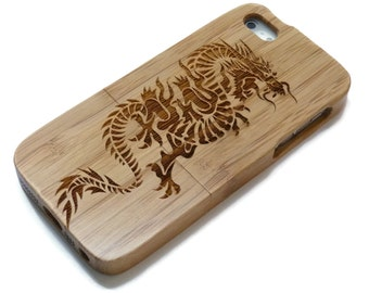 Iphone 7  case wood - wooden iphone 7 case walnut, cherry or bamboo wood - Dragon
