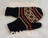 PDF Crochet Pattern - Mens Byward Market Mittens - Instant Download