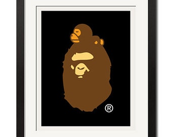 Big Ape on Milo A Bathing Ape Poster Print
