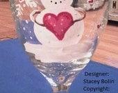Valentines Wine Glass (Snowman Edition)
