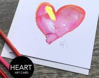 Heart Art Card (Greeting Card)