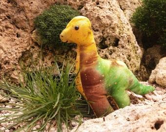 Tiny Brachiosaurus Dinosuar Toy - Custom Handmade Item