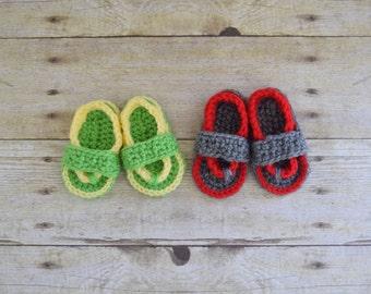 Baby Flip Flops - Infant Sandals - Baby Shoes - Baby Sandals - Crochet Flip Flops - Baby Shower Gift - Crochet Sandles
