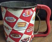 Vintage 1950's Androck Sifter Retro Kitchen Decor Baking Decor Mid Century Kitchen Bakery Litho FREE U.S. Priority Shipping Treasury Item
