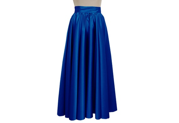 items similar to formal plus size skirt royal blue