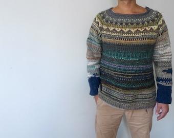 Handmade Icelandic style oversized wool Sweater
