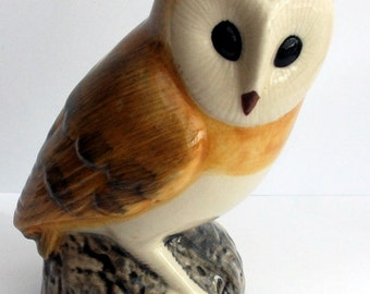 Barn Owl Money Box Barn Piggy Bank Hand Painted Stunning Supplied Gift Boxed