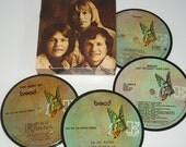 Bread Coasters vinyl record coaster set