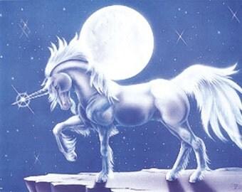 Unicorn Moonlight Poster