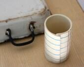 Notebook Paper Tumbler on Ceramic