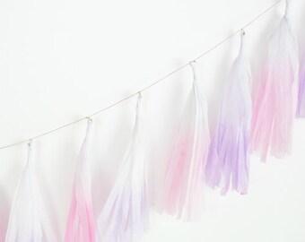 Dip Dye Tassel Garland - Princess