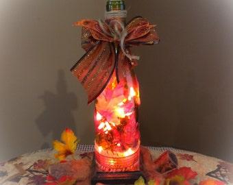 Wine Bottle Light! Fall Charmer!