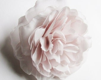 Beautiful Large Pale Pink Peony, Silk Flower Pin for Hair or Dress, Wedding, Maid of Honor, Pink Birthday
