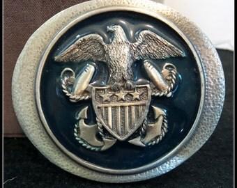 Vintage US Navy Belt Buckle