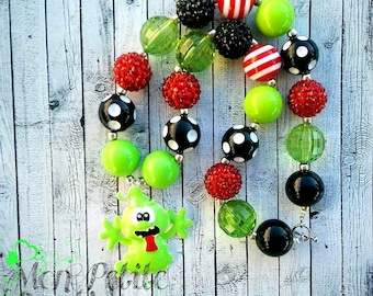 Slimer  Inspired Chunky Bead Necklace