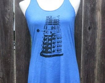 Dalek Screenprinted Racerback Tank Top
