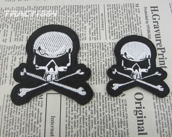Skull Iron On Patch Sewing Applique