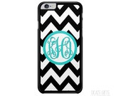 iPhone 6s Case, iPhone 6 Plus Case, iPhone 5s Case, iPhone 5c Case, Black Chevron, Monogram Gift, Christmas Gift (303)