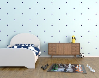 Geometric wall decal, Wall decal, Nursery wall decal, Vinyl wall stickers, Wall decor, triangle decals