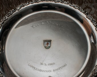 Large solid silver plate