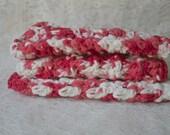 Crochet Wash Cloths  Set of 3  Dishcloths Wash Rag