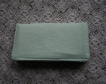 Blue Fabric  Checkbook Cover Cotton Handmade