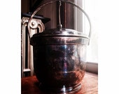 Antique Hindged Ice Bucket -Poole Silver Co.- Taunton, Mass. 3500