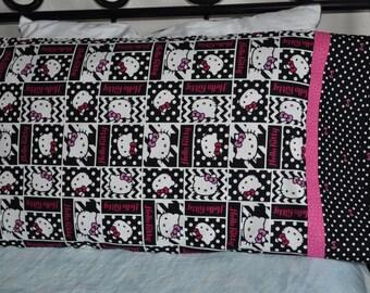 Handmade standard sz pillowcase Hello Kitty