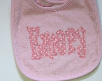 Personalized Baby Girl Bibs - All Dressed Up!