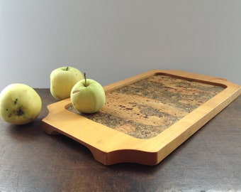 Wooden tray by Holmbergs Sweden Rustic wood tray Rustic serving tray