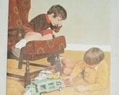 1970s Vintage Happy Birthday Card White Cars Toys Transporter