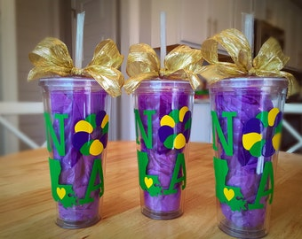 Mardi Gras Cups- 24 oz