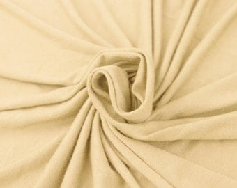 Ivory D Rayon Jersey Spandex Knit Fabric by the Yard - 1 Yard Style 406
