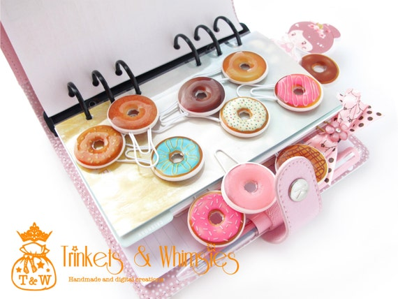 Cute donut paper clips