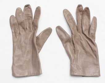 "70's Vintage ""SHALIMAR"" Tan Leather Gloves Sz: 7.5 (EXCLUSIVE)"