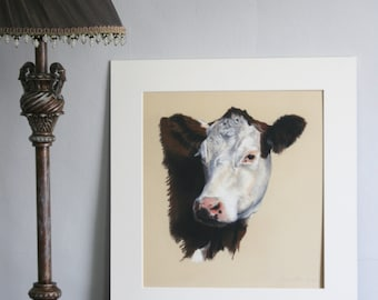 Chipolata - Limited edition giclee print from original pastel drawing by Imogen Man