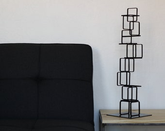 Metal Abstract Art Sculpture Modern Retro Simple Table Decor Contemporary Mid Century Modernist 50s 60s by Petrykowski Artworks